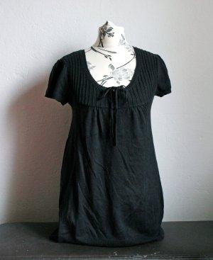T-Shirt Strick Schwarz Gr.36