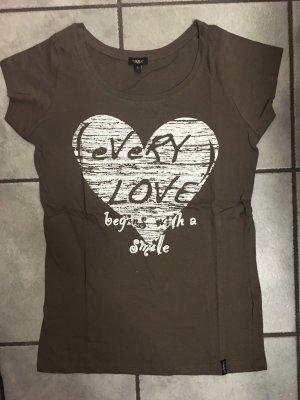 T-Shirt Tara braun, weiß in Größe L