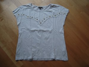 T-Shirt / Top grau mit Nieten