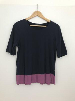 T-Shirt Top in dunkelblau