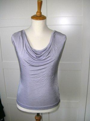 T-Shirt, Top mit Wasserfallausschnitt, lila, H&M, Gr. 34/36