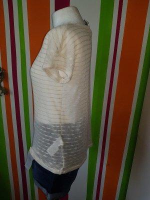 T-Shirt Top Shirt Strick von Vila by Vero Moda Gr. S (36) NEU beige silber