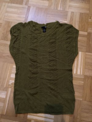 T-Shirt, Top, Strick, H&M, Gr. M Khaki
