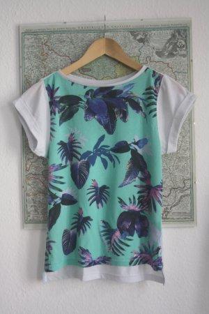 T-Shirt Top Tropical Print XS 34 36 *TREND* Palmen