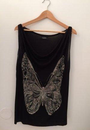 T-Shirt/ Top von Lauren Moshi mit Schmetterlingsprint, One Size