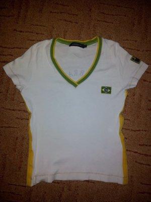 T-Shirt Trikot Brasilien Fußball Gr. 36 weiß