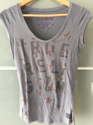 T-Shirt True Religion grau/blau S