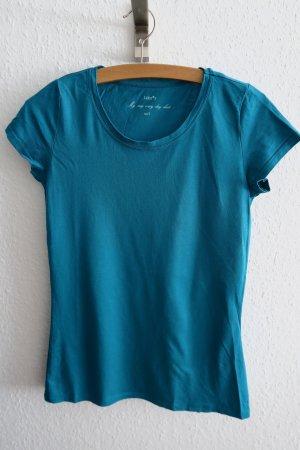 T-shirt türkis Basic Sommer