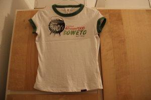 T-Shirt grass green-white cotton