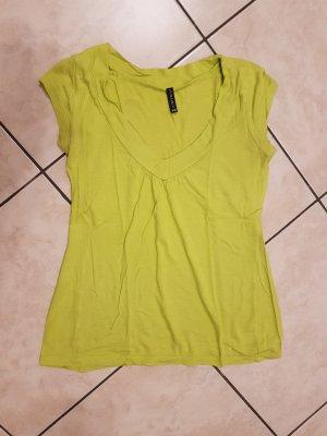 T-Shirt V-Ausschnitt grün Amisu  Gr. XS