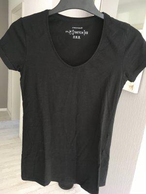 T-Shirt V-Ausschnitt schwarz