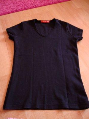 T-Shirt V-Ausschnitt schwarz von Fishbone / New Yorker / Only Größe: XS / Basic