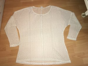Vero Moda Camisa de ganchillo crema