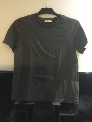 T-shirt Vogelprint grau