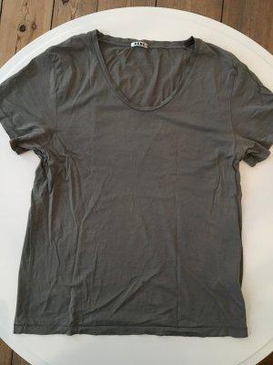 T-Shirt von ACNE aus Baumwolle military grün Grösse M