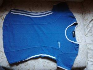 Adidas Sports Shirt white-blue cotton