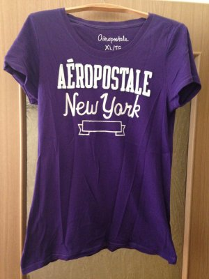 Aeropostale T-shirt viola scuro Cotone