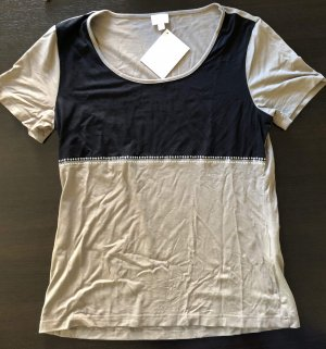 Alba Moda T-shirt zwart-beige Viscose