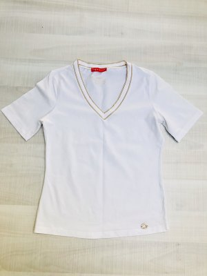 Apriori V-hals shirt wit-goud
