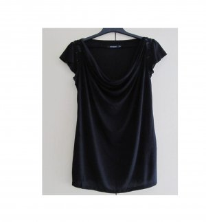 Atmosphere Cowl-Neck Shirt black viscose