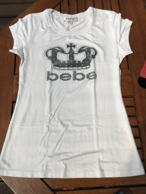 bebe T-shirt bianco Cotone