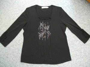 Biba Shirt black-silver-colored viscose