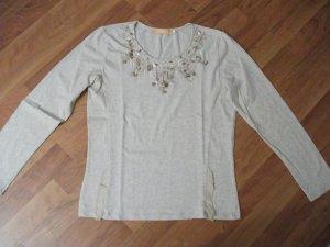 T-Shirt von BIBA mit Applikationen, Pailletten + Steinchen, Gr. M (36/38)