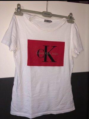 Calvin Klein Camiseta blanco-rojo