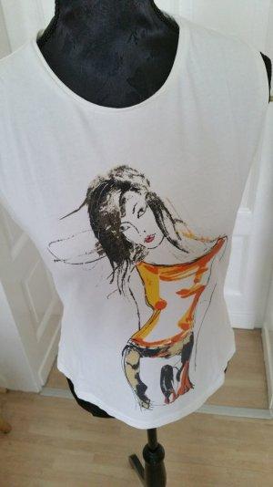 T-shirt von Comma in weiß