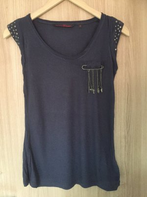 T-Shirt von der Marke Tom Tailor Denim in der Farbe Blau