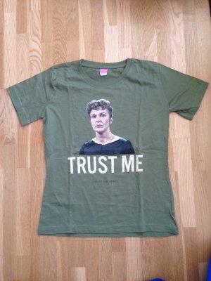 T-shirt grigio-verde Cotone