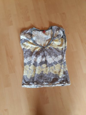 de.corp by Esprit Gestreept shirt lichtgrijs-lichtgeel