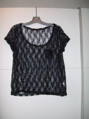 T-Shirt von Esprit Gr. XL 42 aus schwarzer Spitze