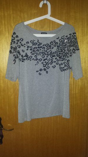 T-Shirt von Gerry Weber in Grau mit Leopardenprint Gr. 40