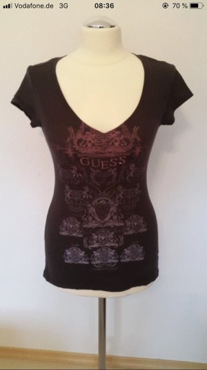 Guess T-shirt marrone-rosso-rosa