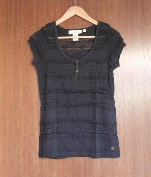 H&M Gehaakt shirt donkerblauw