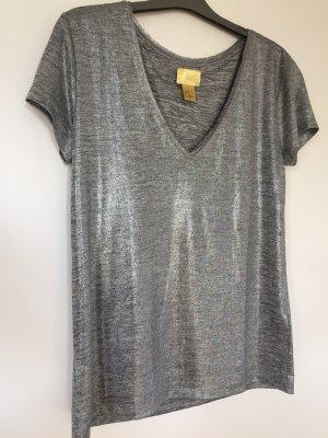 T-Shirt von H&M in Silber Gr. XS, neu