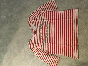 Hilfiger Denim Camisa de rayas rojo-blanco
