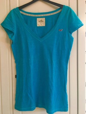 Hollister T-shirt col en V turquoise