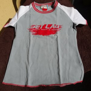 T-Shirt von Jetleg, grau, Größe XS/S, Nagelneu