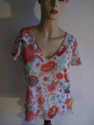 T-Shirt von Jette Joop, wie neu - florales Design mit Ziersteinchen