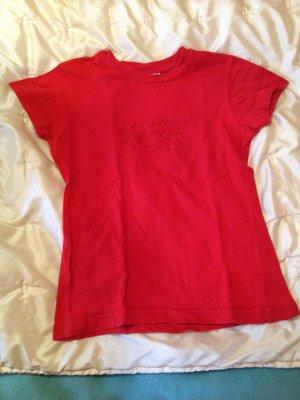 T-Shirt von Langnese in rot Größe S