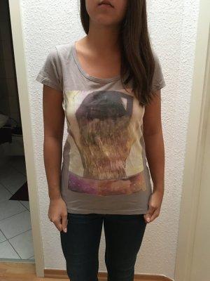 T Shirt von Only mit Aufdruck in grau, Gr. M NEU