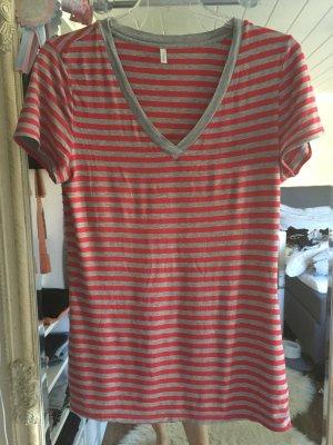 T-Shirt von Palmers in rot grau gestreift Größe S