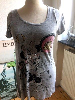T-Shirt von PLOMO O PLATA mit Minnie, grau, Gr M