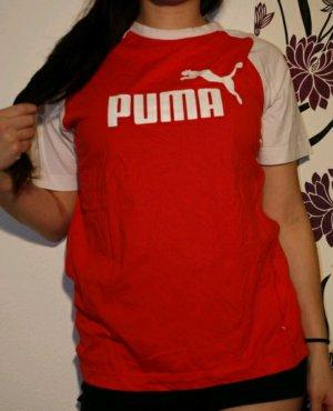 T-Shirt von Puma in rot/weiß