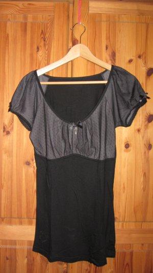 T-Shirt von Queen of Darkness, Lace Cross Top, Gr. L