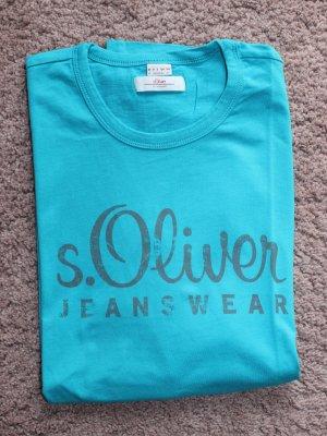 s.Oliver Camiseta turquesa-azul