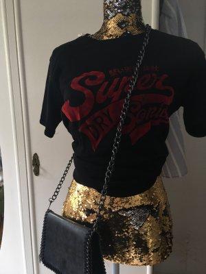 Superdry Batik shirt zwart-donkerrood