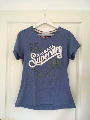 T-Shirt von Superdry blau